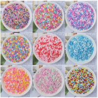 2000PCS Slime Slices Toy Charm Filler for Nails Fruit Slices DIY Supplies Polymer Clear Clay Sprinkles Putty Nail Art Craft Toys
