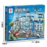 【智力開發】兼容樂高積木城市警察局系列兒童拼裝警察總局男孩益智力拼插玩具