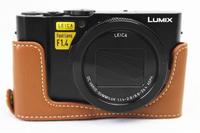 【官方正品】 相機包皮套底座真皮LX10底座 L-X10 LX10半套 厂家直销