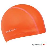 【SPEEDO】成人 合成泳帽 Pace(橘)