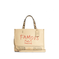 刷卡滿3千回饋5%點數 COACH basquiat聯名新款塗鴉手提袋女士單肩包斜挎包 C5660