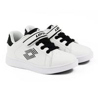 LOTTO樂得-義大利第一品牌 童款1973 經典網球鞋 [LT8AKR6988] 白黑【巷子屋】