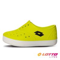 【LOTTO】運動鞋 兒童鞋 繽紛玩色 亮彩洞洞鞋(螢光黃-LT1AKS3534)