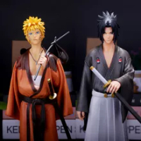 Naruto 30CM Uchiha Sasuke Uzumaki Naruto PVC Action Anime Shippuden Vibration Stars Figurine Model Figma Toys