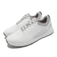 【SKECHERS】高爾夫球鞋 Go Golf Elite 4 男鞋 緩衝 緩震 疏水 皮革鞋面 輕巧 靈敏 白 灰(214022-WGY)