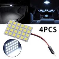 4Pcs รถอ่านไฟ18SMD COB LED T10 4W 12V สีขาวภายในแผงไฟโดมหลอดไฟอัตโนมัติอุปกรณ์เสริม