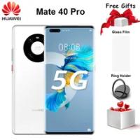 """ต้นฉบับHuawei Mate 40 Pro 5Gโทรศัพท์มือถือ6.76 """"90Hz OLED 8GB + 128GB Kirin 9000 Octa Core EMUI 11 Fastชาร์จ66Wสมาร์ทโฟน"""