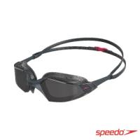 【SPEEDO】成人運動泳鏡 Aquapulse Pro(灰/紅)