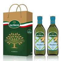 【Olitalia奧利塔】玄米油禮盒組(750mlx2瓶)