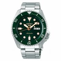 刷卡滿3千回饋5%點數|SEIKO 5 sport運動潮流機械腕錶/綠面4R36-07G0G(SRPD63K1)