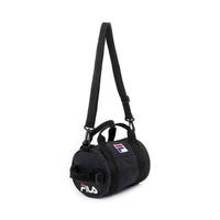 【FILA】圓筒包 斜背包 小型潮流單肩包-黑(BMV-1503-BK)