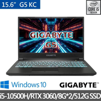 【GIGABYTE 技嘉】G5 KC 15.6吋 電競筆記型電腦(i5-10500H/RTX3060/16G/512GB SSD/Win10H)