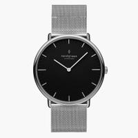 刷卡滿3千回饋5%點數|Nordgreen Native本真 月光銀系列米蘭帶腕錶36mm(NR36SIMESIBL)