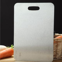 【PUSH!】廚房用品2MM厚304不鏽鋼廚房砧板切菜板烘焙揉麵板D164(圓角打磨邊緣不傷手.開口設計)