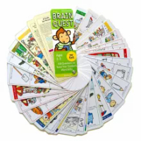 4pc Brain Quest English Version Of The Intellectual Development Card Sticker Books Questions And Answers Card Smart Start Child