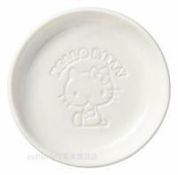 asdfkitty可愛家☆KITTY側坐陶瓷醬料碟/醬油碟-也可當茶包盤.湯匙架-日本正版商品