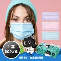 【易廷-kuroro聯名款】醫療級 醫用口罩(成人口罩 30入/盒 台灣製造 MD雙鋼印 防疫 國家隊 卜公家族)