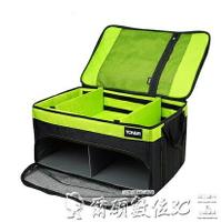 車載後備箱拓納汽車收納箱后備箱儲物箱車載置物箱車用多功能雙層折疊整理箱