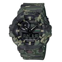 【CASIO 卡西歐】G-SHOCK 多層印刷迷彩叢林腕錶-灌木(GA-700CM-3A)