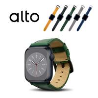 【Alto】Apple Watch 皮革錶帶 42/44mm - 森林綠(真皮錶帶)