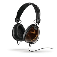 志達電子 S6AVFM-310 Tortoise/ Black 美國 Skullcandy Aviator 可換線式 飛行員耳罩式耳機 for iPhone ipod Apple
