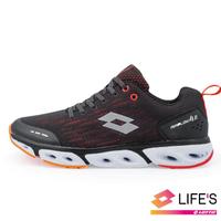 【LOTTO】男  AIR FLOW 4.0  風動跑鞋(黑紅-LT0AMR1901)