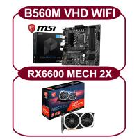 【MSI 微星】RX6600 MECH 2X+A320M-A PRO*3(RX6600/A320M*3)