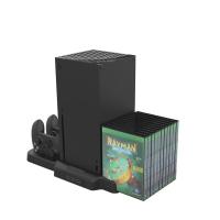 [2玉山網] Xbox Series X主機散熱底座+手柄充電座充+遊戲光盤收納架 KJH