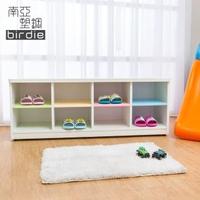 【南亞塑鋼】3.6尺開放式8格塑鋼坐式鞋櫃/穿鞋椅(彩色板)