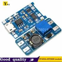 Micro USB 5V 1A 18650 TP4056 Lithium Battery Charger Modul Pengisian Papan dengan Perlindungan + MT3608 2A DC-DC Langkah up Converter