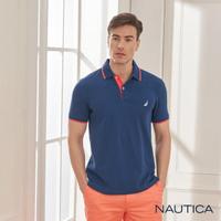 【NAUTICA】基本款素面短袖POLO衫(深藍)