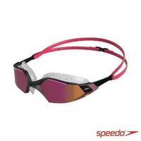 【SPEEDO】成人運動泳鏡 鏡面 Aquapulse Pro(紅/玫瑰金)