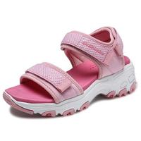 SKECHERS【996334LPNK】D'Lites 涼鞋 運動涼鞋 童鞋 中童 大童 健走 黏帶 粉紅色 大人女生可穿