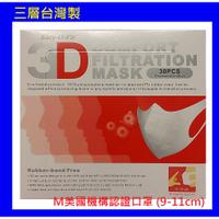台灣製 美國機構認證口罩 超服貼3D立體 成人口罩(30片/盒) 非醫療用三層不織布口罩 台製三層口罩 三層口罩 花色口