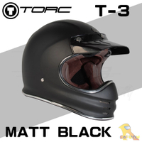 任我行騎士部品 Torc T3 全罩 山車帽 滑胎車 復古 咖啡 Cafe 附帽舌 安全帽 消光黑色
