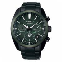 【SEIKO 精工】SEIKO精工 Astron 綠陶瓷圈 GPS衛星雙時區腕錶(SSH079J1/5X53-0BD0G)