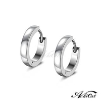 【AchiCat】鋼耳環 簡約百搭 易扣耳環 面寬約2mm 一對價格 G20031
