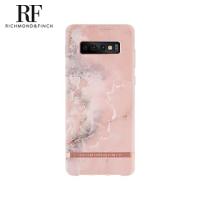 【Richmond&Finch】瑞典手機殼 大理石紋玫瑰金線框-玫瑰粉(Samsung Galaxy S10+)