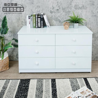 【南亞塑鋼】4.1尺六斗櫃/六抽屜收納櫃/置物櫃(白色)
