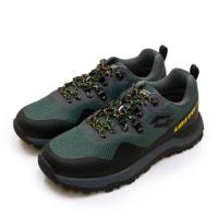 【LOTTO】男 專業防水郊山戶外越野跑鞋 FALCO隼系列(灰綠黑 2555)