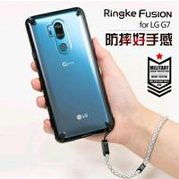 韓國Ringke原裝LG G7手機殼g7 thinq新款防摔保護套全包軟硅膠透明潮牌男女掛繩『櫻花小屋』