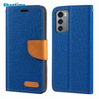Oxford Leather Wallet Case For LG Wing 5G With Soft TPU Back Cover Magnet Flip Case For LG Wing 5G