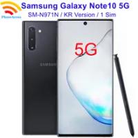 "Original Samsung Galaxy Note10 5G N971N【99% New】Unlocked Korea Version Note 10 5G Mobile phones 6.3"" 12GB RAM 256GB ROM NFC"