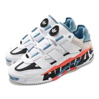 【adidas 愛迪達】休閒鞋 Niteball 流行 男鞋 愛迪達 三葉草 麂皮 異材質 穿搭 白 藍(FX7644)