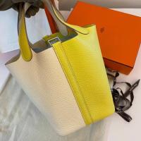 Hermès Picotin18 nata 拼 檸檬🍋黃 銀扣 全新