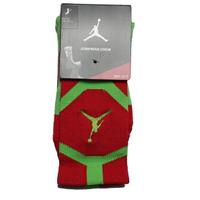【滿千折百優惠開跑】NIKE 運動襪 中筒襪 JORDAN JUMPMAN DRIFIT CREW 紅 螢光綠 襪子(布魯克林) 589042-687