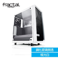 【Fractal Design】Meshify C-TG 極光白 鋼化玻璃透側電腦機殼
