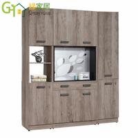 【綠家居】安圖格 時尚5.3尺木紋雙面鞋櫃/玄關櫃組合
