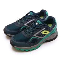 【LOTTO】女 專業防潑水郊山越野跑鞋 CROSS RUN 跨越叢林系列(藍灰 1056)