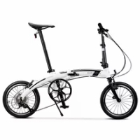 Folding Bicycle Dahon Bike PAA693 GLO 16 Inch 9-Speed AIRSPEED Aluminum Alloy Frame Curved Beam Dolphin Beam Portable Outdoor